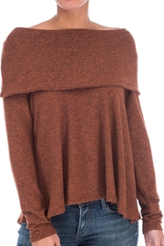 Bobeau Cozy Off Shoulder Top - Product Mini Image