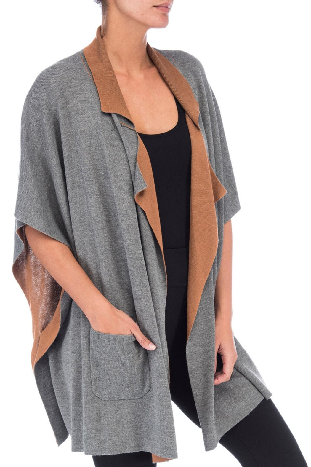 Bobeau Double Faced Cardigan - Front Full Image