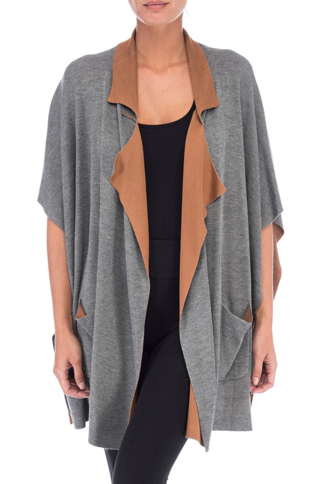 Bobeau Double Faced Cardigan - Front Cropped Image