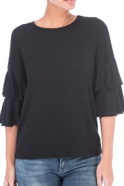Bobeau Double Ruffle Sleeve Tee - Product Mini Image