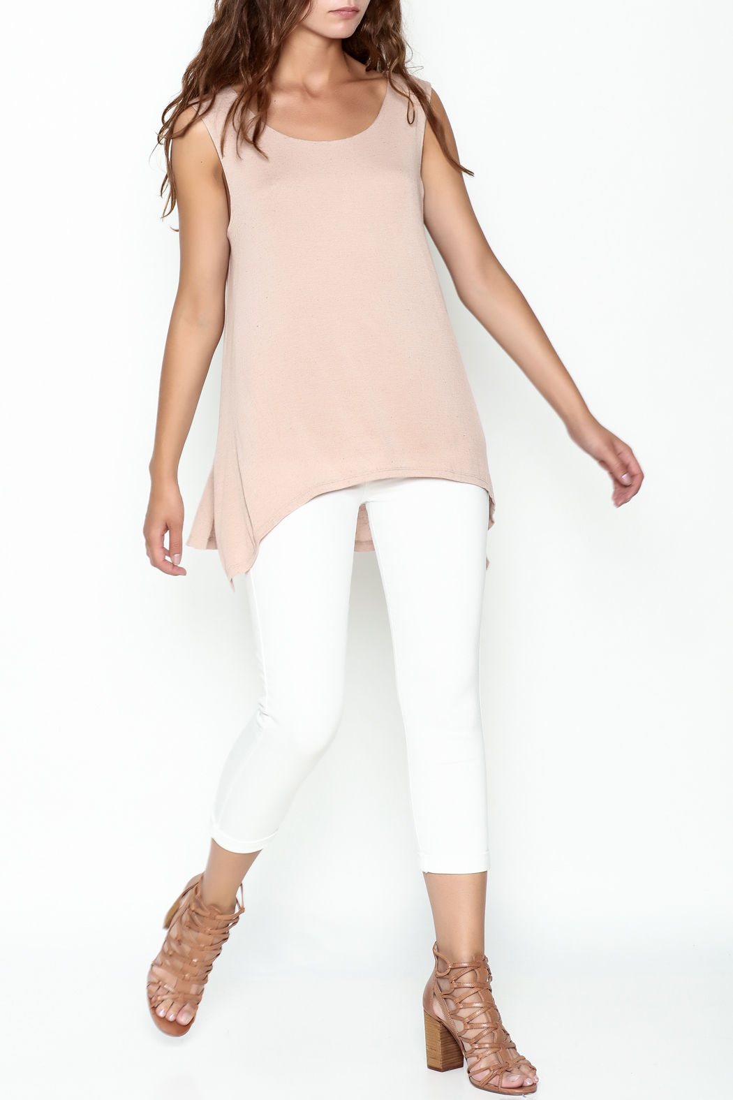 Bobeau George Double Layer Tank - Side Cropped Image