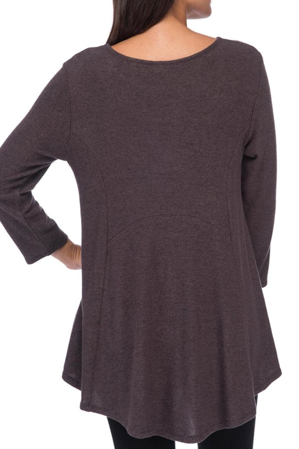 Bobeau Heavenly Soft Tunic - Front Full Image