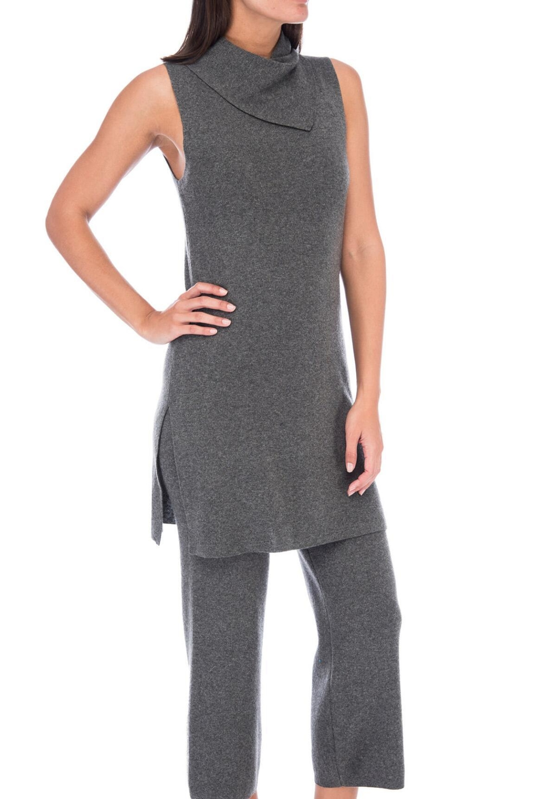 Bobeau Mateo Tunic Sweater Top - Side Cropped Image