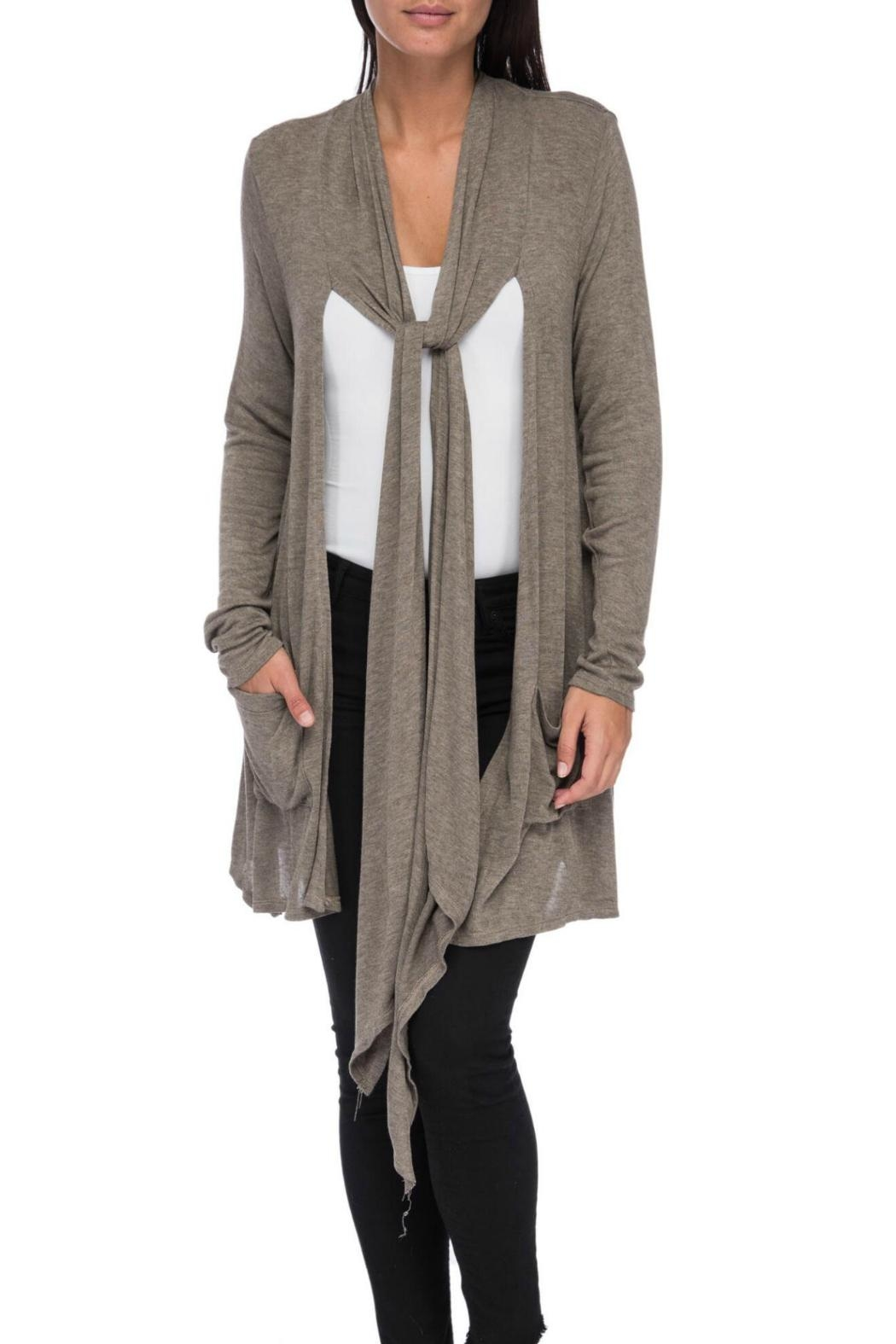 Bobeau Slouch Pocket Cardigan - Main Image
