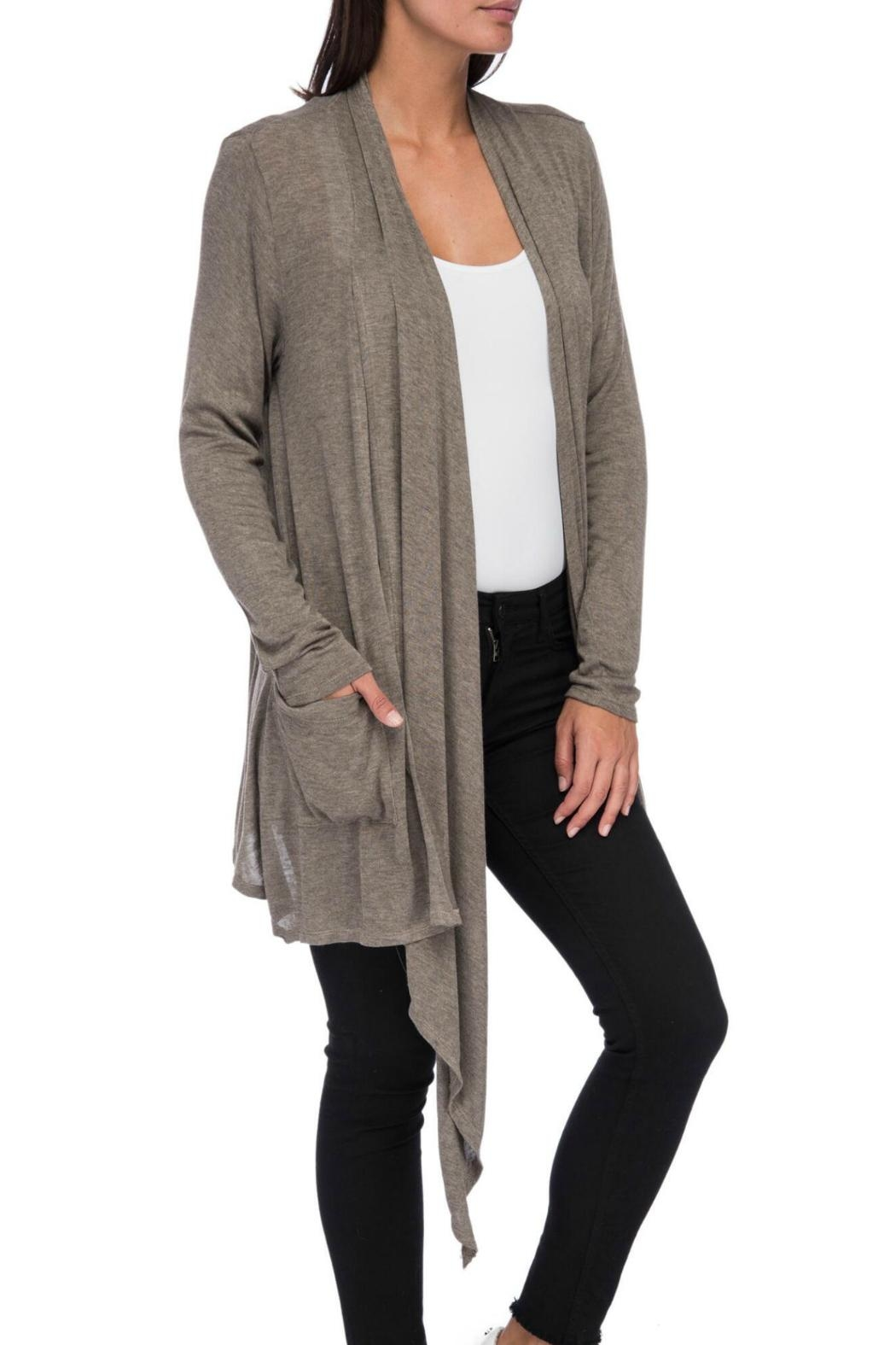 Bobeau Slouch Pocket Cardigan - Side Cropped Image