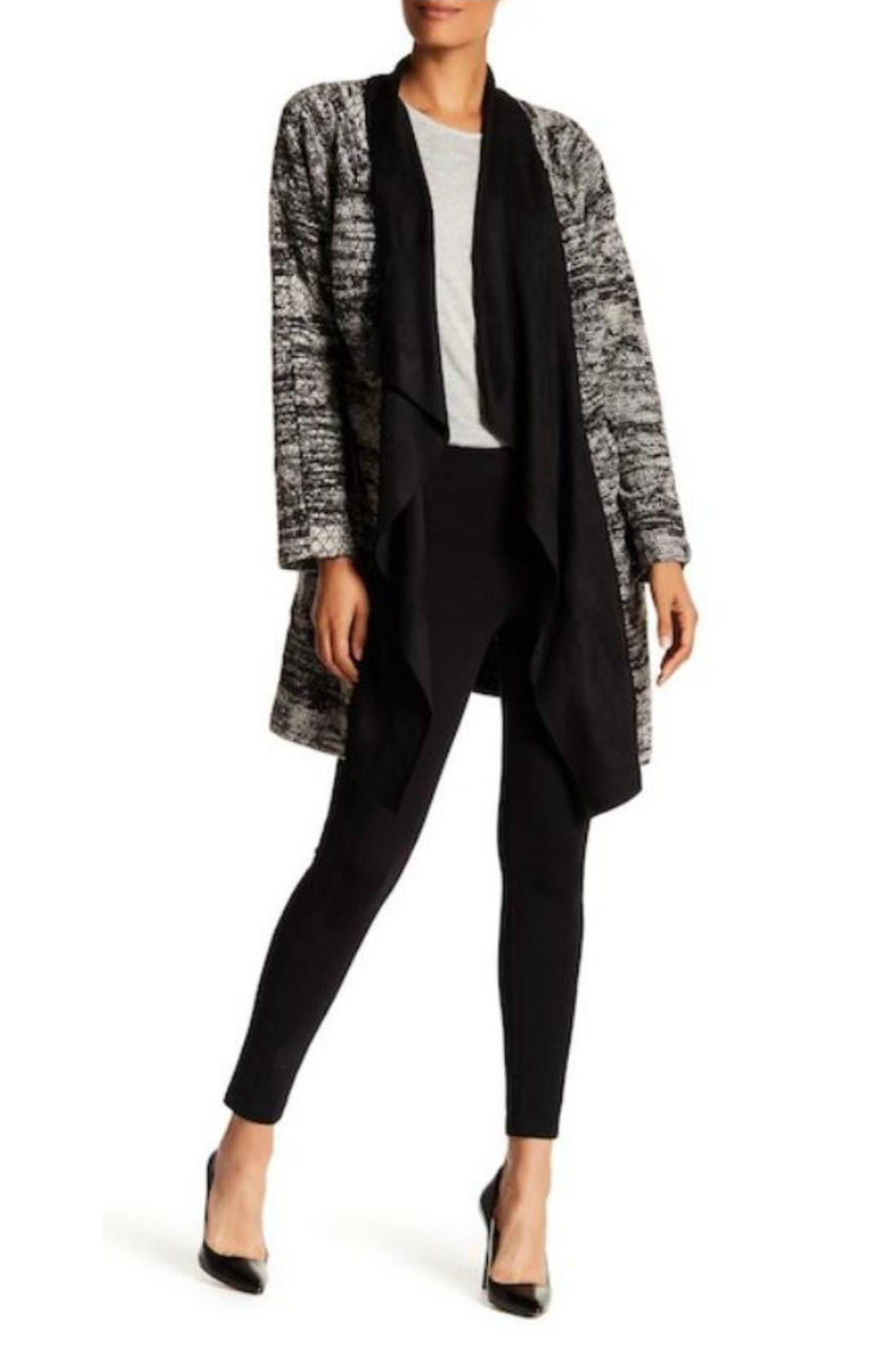 Bobeau Textured Micro Suede Coat - Front Cropped Image
