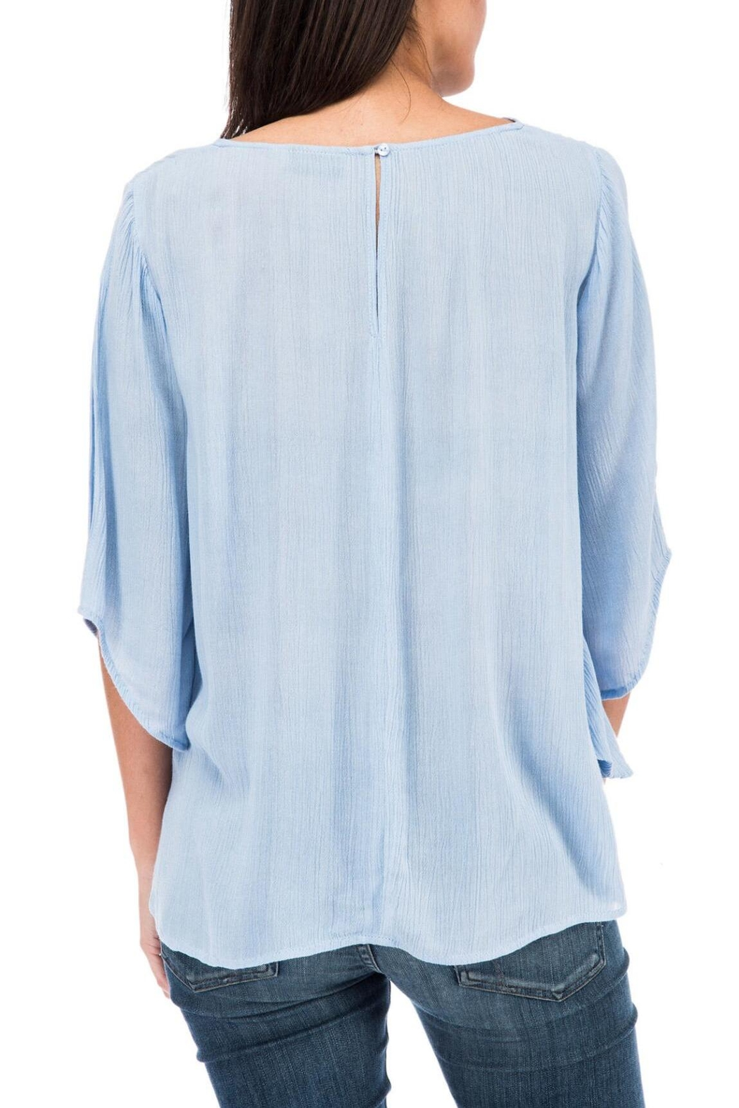 Bobeau Tie Front Blouse - Side Cropped Image