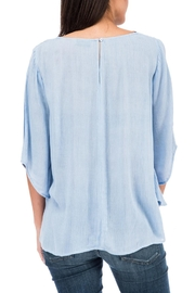 Bobeau Tie Front Blouse - Side cropped
