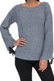 Bobeau Tie Sleeve Top - Front cropped