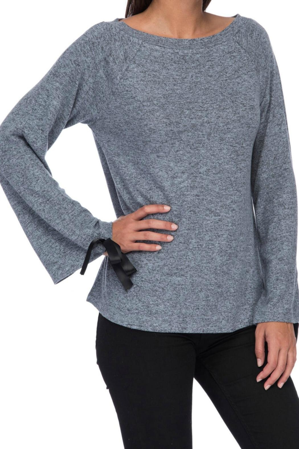 Bobeau Tie Sleeve Top - Front Full Image