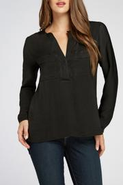 Bobeau Two Pocket Blouse - Product Mini Image