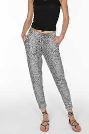 Bobi Grey Leopard Joggers - Product Mini Image