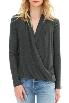 Shoptiques Product: Heathered Surplice Top