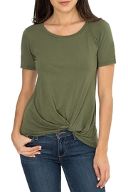 Bobi Front Knot Tee Top - Product Mini Image