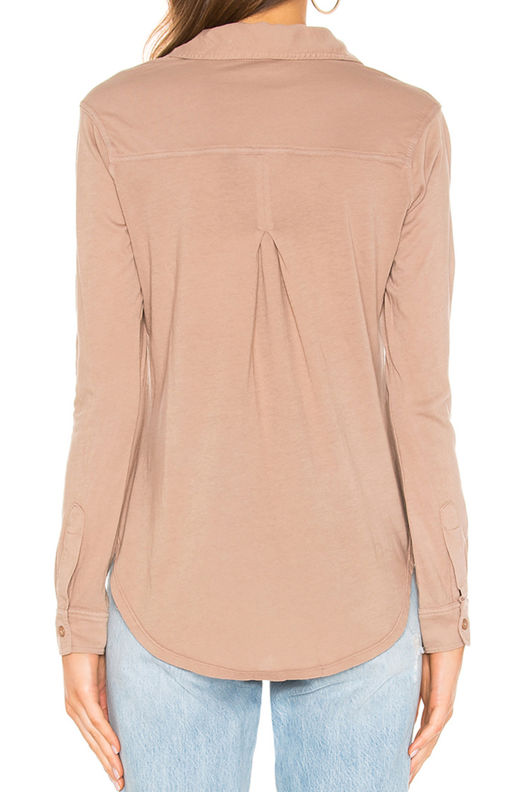 Bobi BOBI LIGHTWEIGHT JERSEY BUTTON DOWN - Side Cropped Image