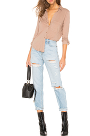 Bobi BOBI LIGHTWEIGHT JERSEY BUTTON DOWN - Back cropped