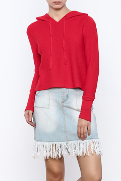 Shoptiques Product: Cropped Drawstring Hoodie