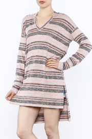 Bobi Los Angeles Striped Tunic Hood - Product Mini Image