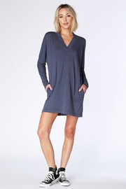 Bobi V-Neck Dolam Dress - Front full body