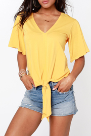 Bobi BOBI V NECK TIE FRONT TOP - Product Mini Image