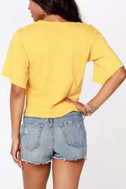 Bobi BOBI V NECK TIE FRONT TOP - Side cropped