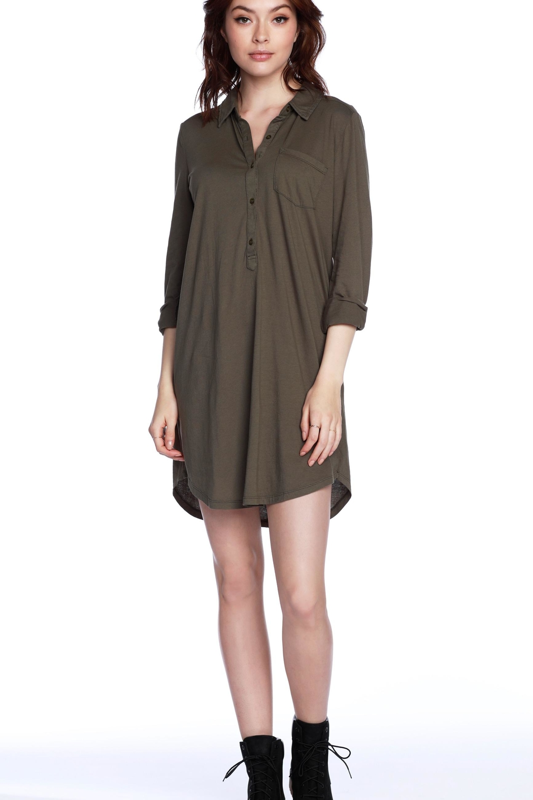 Bobi Los Angeles Bobi Olive Shirtdress - Main Image