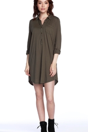 Bobi Los Angeles Bobi Olive Shirtdress - Front cropped