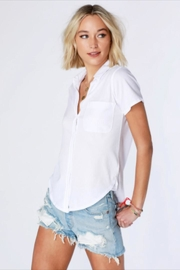 Bobi Los Angeles Button-Up Cotton Tee - Product Mini Image