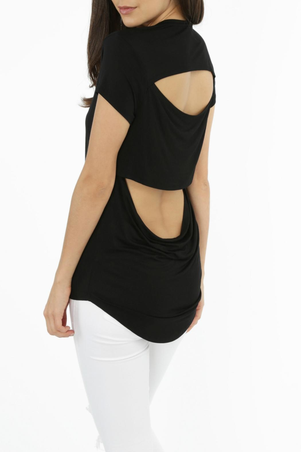 Bobi Los Angeles Cutout Back Tee - Front Cropped Image