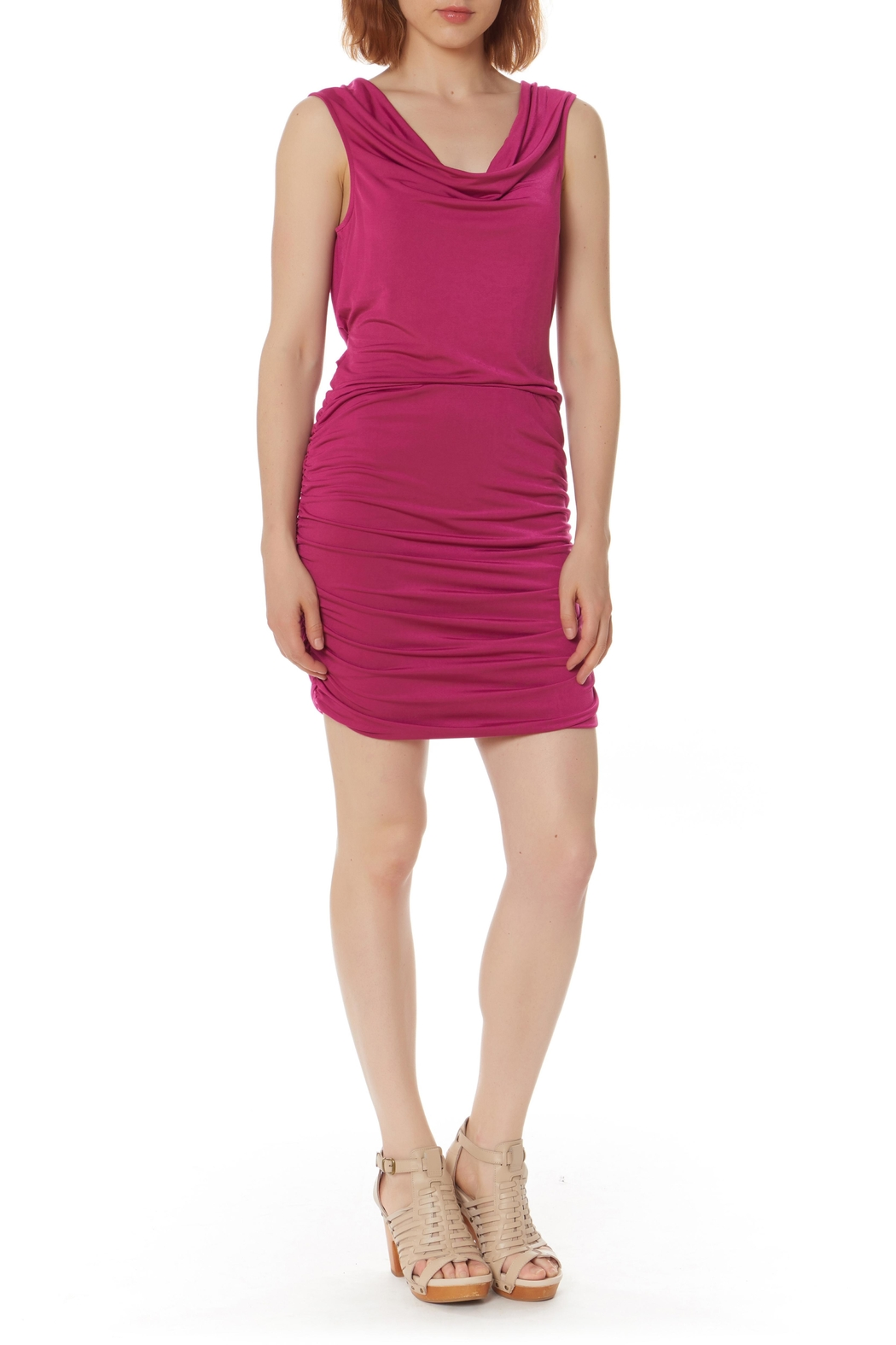 Bobi Los Angeles Shirred Side Dress - Main Image