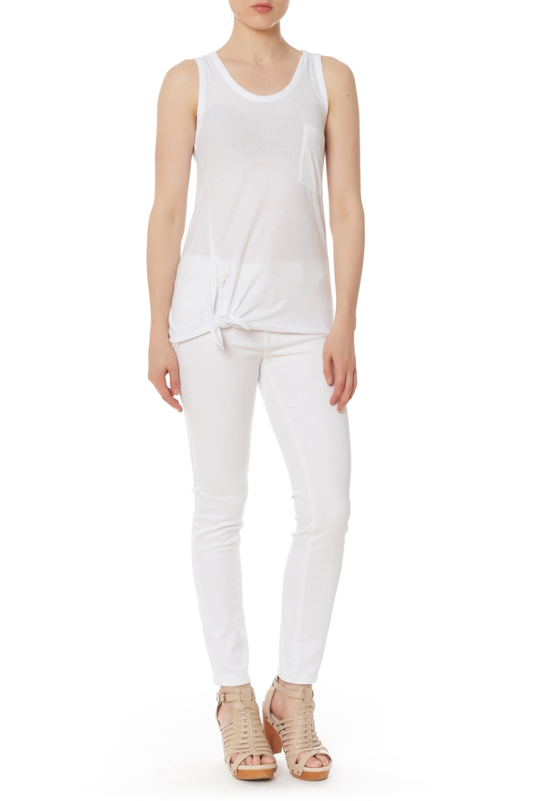 Bobi Los Angeles Side Knot Top - Side Cropped Image