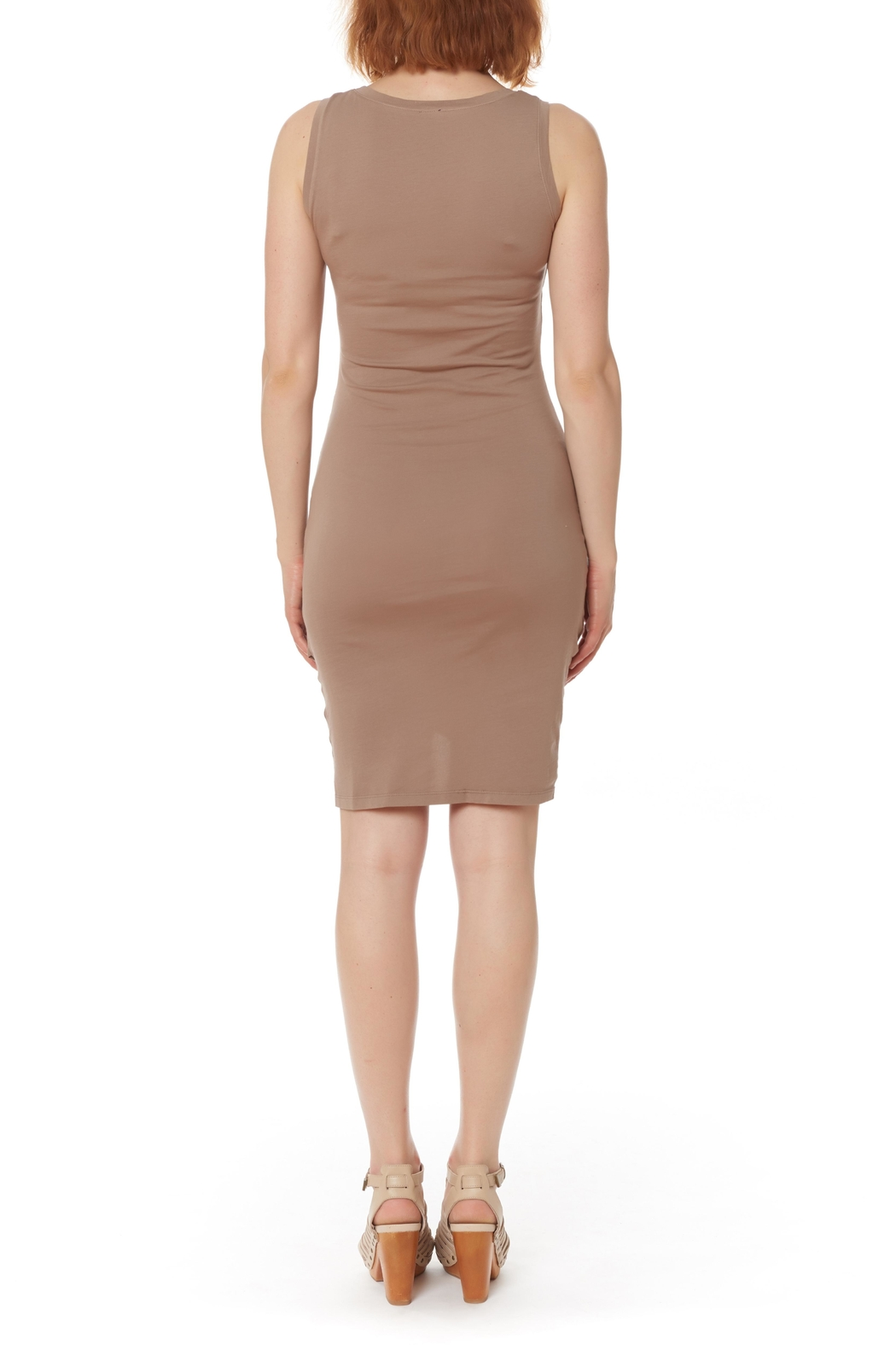 Bobi Los Angeles Supreme Jersey Ruched Dress Front Full Image