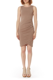 Bobi Los Angeles Supreme Jersey Ruched Dress - Product Mini Image