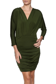 BobiBLACK V-Neck Ruched Dress - Product Mini Image