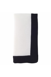 Bodrum Black Border Napkin - Front cropped