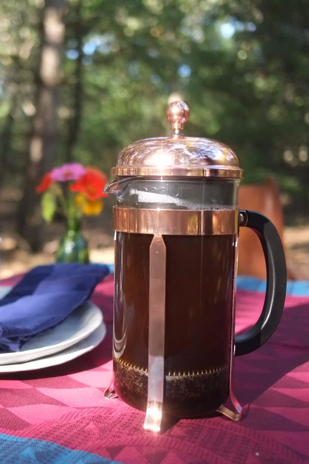 Bodum Copper French Press - Front Cropped Image