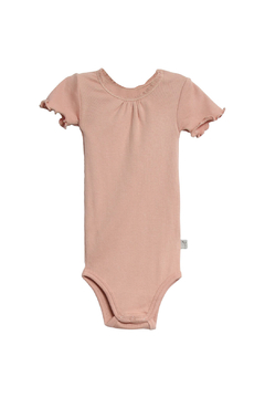 Shoptiques Product: Body Rib Lace Short Sleeve Onesie