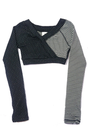 Body Wrappers Dots&Stripes Crop Pullover - Product Mini Image