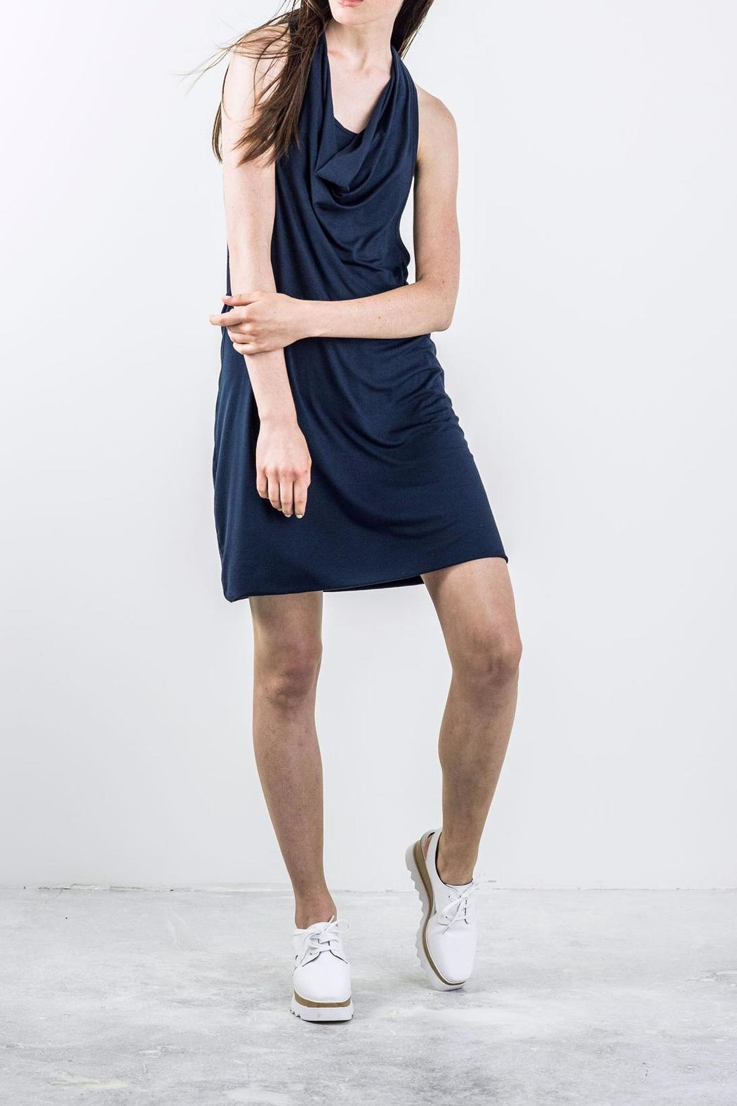 Bodybag by Jude Draped Sleeveless Dress - Front Cropped Image