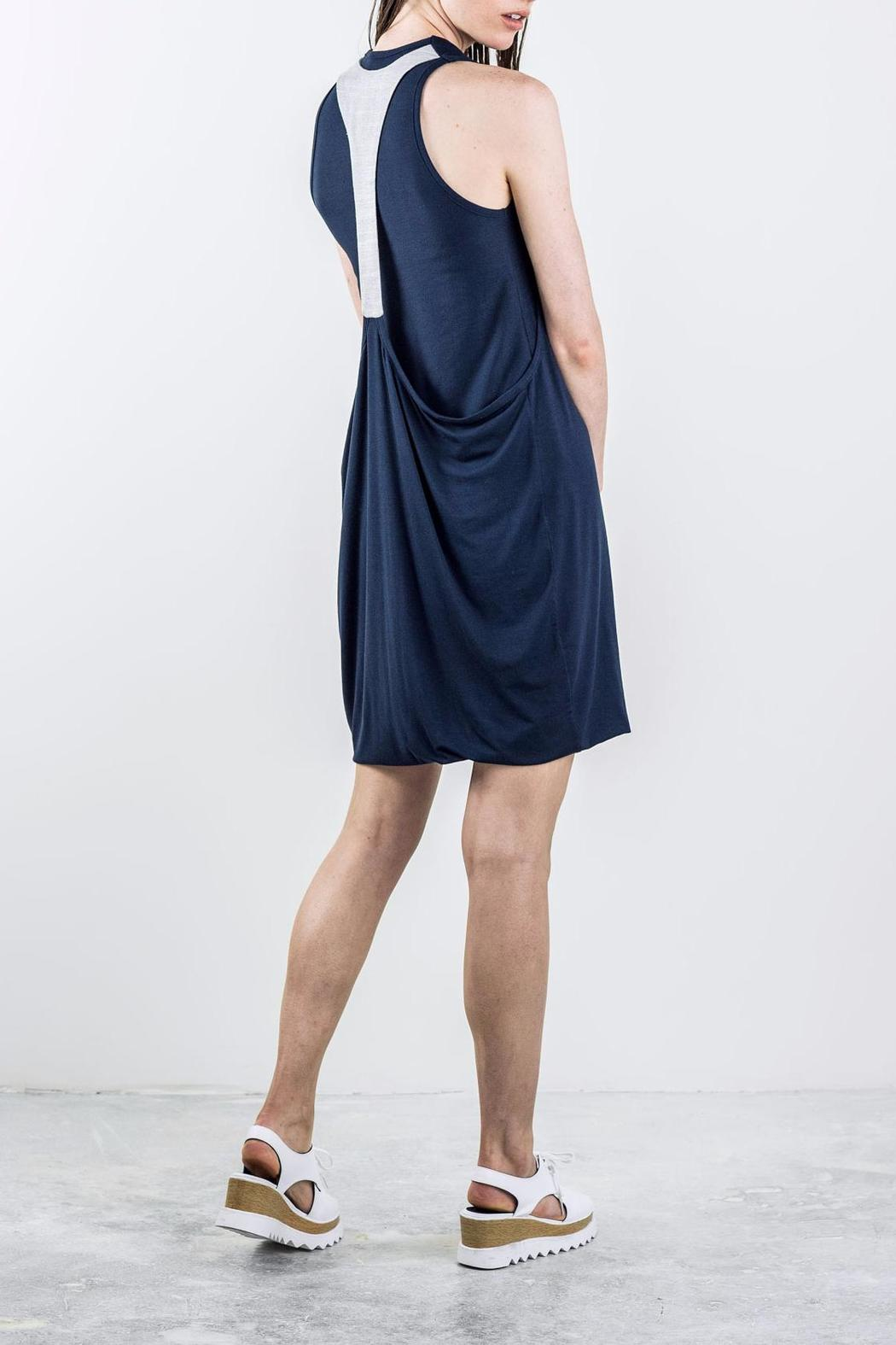 Bodybag by Jude Draped Sleeveless Dress - Front Full Image