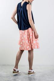 Bodybag by Jude Printed Pleated Skirt - Front full body