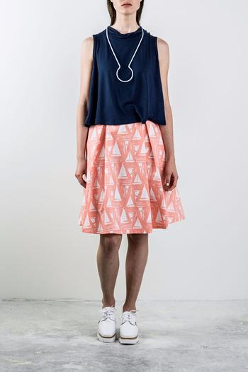 Shoptiques Product: Printed Pleated Skirt - main
