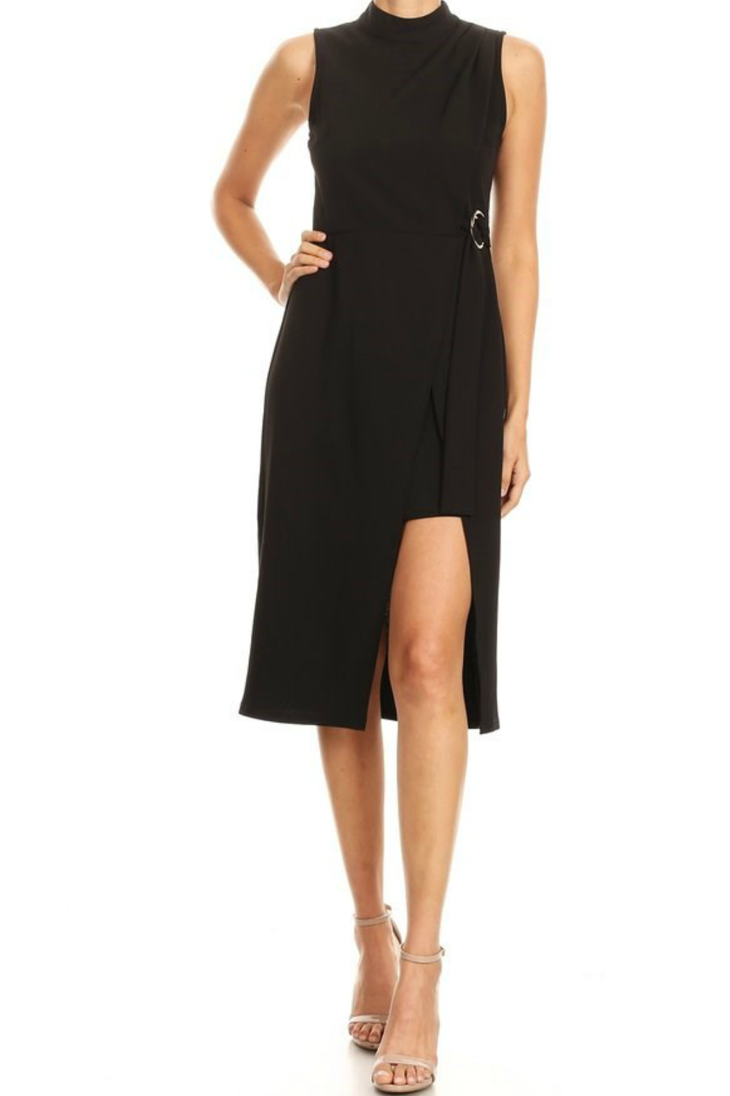 Ina Bodycon Midi Dress - Front Cropped Image