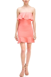 blue blush Bodycon Ruffle Dress - Product Mini Image