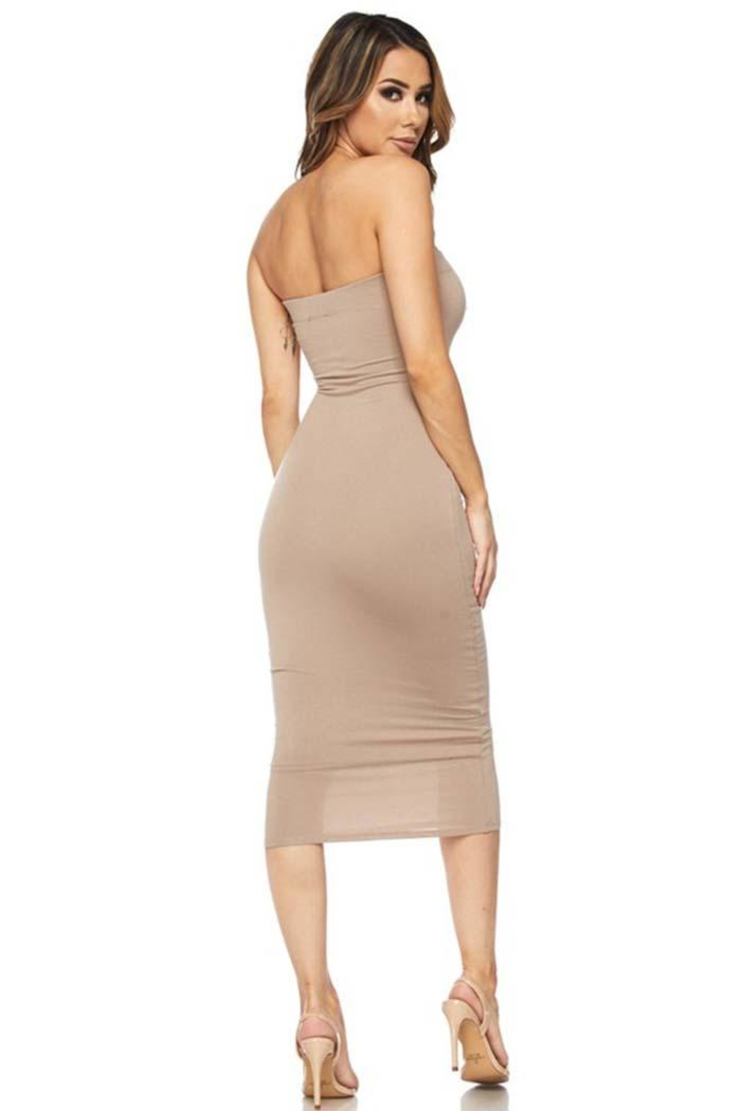 Hot & Delicious Bodycon Tube Dress - Side Cropped Image