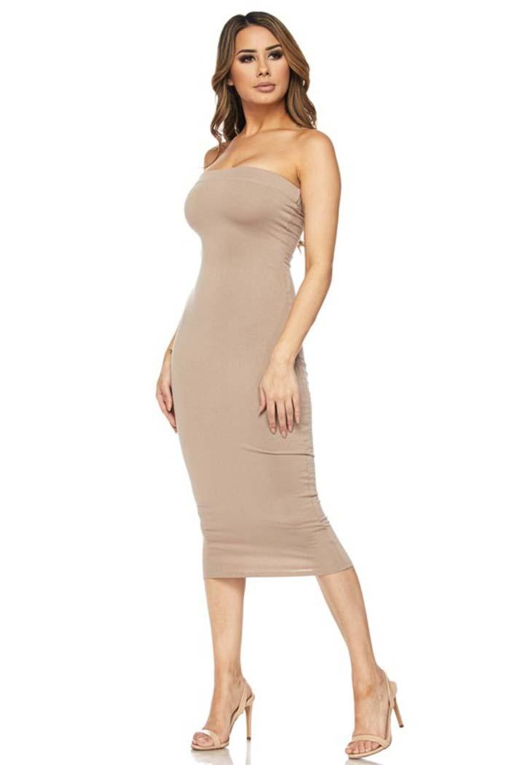 Hot & Delicious Bodycon Tube Dress - Front Full Image