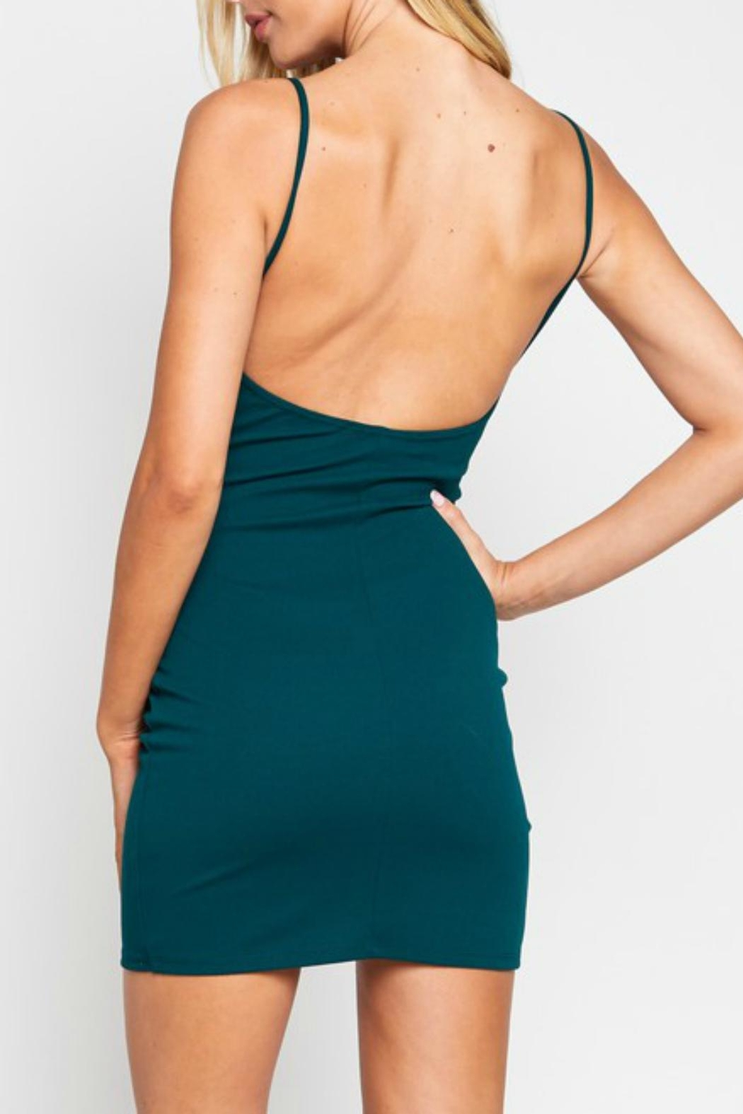 Pretty Little Things Bodycon Wrap Dress - Front Full Image
