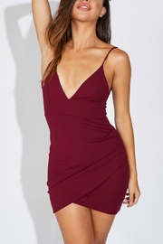 Pretty Little Things Bodycon Wrap Dress - Front cropped