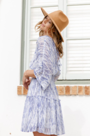 Love Stitch Bohemian Abstract Print Smocked Mini Dress - Other