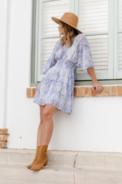 Love Stitch Bohemian Abstract Print Smocked Mini Dress - Product List Image